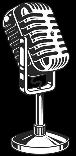 retro mikrofon lektorski